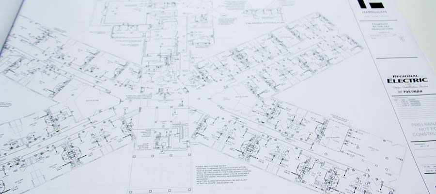 Example design build drawing regional electric